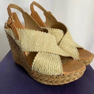 Raffia Wedge Sandal